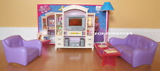 NEW FANCY LIFE DOLL HOUSE FURNITURE LIVING Room With Entertainment(24012)