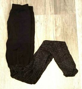 SPANX 398 TIGHT-END TIGHTS METALLIC LUXE BLACK / SILVER sz A / XS OPEN PACK