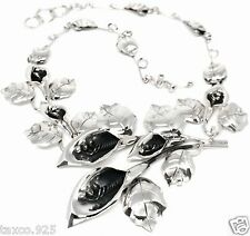 Lily Floral Flower Necklace Mexico Taxco Mexican 925 Sterling Silver Calla
