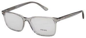 Prada Eyeglasses PR 14WV U431O1 56 Transparent Grey Frame [56-18-150]