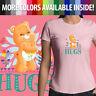 Juniors Girl Women Tee T-Shirt Care Bears Friend Bear Hugs Classic Cartoon Movie