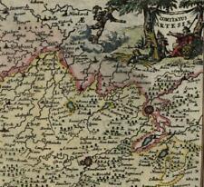 Low Countries Belgium France Artois 1725 Harrewijn fine old vintage antique map