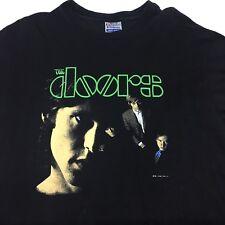 The Doors Vintage 1983 Vtg Signatures Jim Morrison 80s Men's Xl Black T Shirt