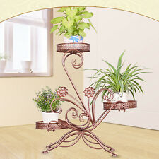 Metal Plant Flower Herb Display Stand Shelf Storage Rack Outdoor 3 Tier Holder