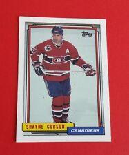 1992/93 Topps Hockey Shayne Corson Card #201***Montreal Canadiens***