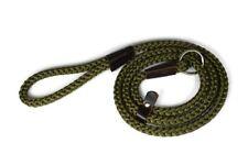 Nylon Rope Slip Lead - Handmade in England - Olive Green