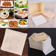 Tofu Maker Press Mold Kit + Cheese Cloth DIY Soy Pressing Mould Kitchen Tool Set