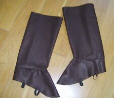 BROWN FELT BOOT TOPS COVERS BOOTS MEDIEVAL PEASANT ANIMAL FAIRY TALE FANCY DRESS