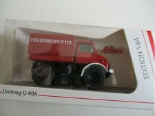 Miniature 1/64 Unimog u 406 Fire Brigade Firefighters Schuco