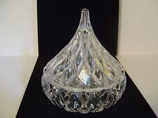 JONAL 24% LEAD CRYSTAL HERSHEY KISS CANDY BOX DISH WITH STICKER MADE IN GERMANY