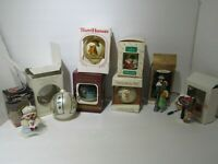 Lot of 8 Vintage Hallmark Christmas Collectibles 70s & 80s Ornament and Figures