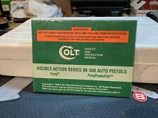 Colt Double Action Series 90-380 & 9Mm Auto Pistols Manual New