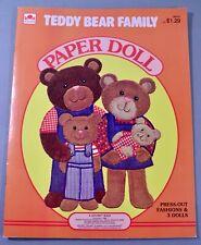 TEDDY BEAR FAMILY PAPER DOLL BOOK GOLDEN (1985) UNCUT