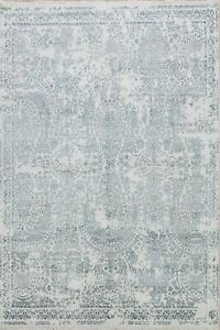 Wool & Silk Art And Craft Modern Oriental Area Rug Hand-Knotted Dining Room 8x10