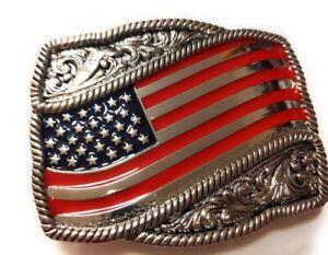 prem USA FLAG United States belt buckle military army navy marines AF USA Seller