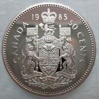 1985 CANADA 50 CENTS PROOF HALF DOLLAR COIN