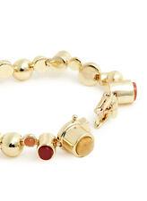 New: EDDIE BORGO Yellow Gold Plate Multicolor Gemstone Dome Bracelet