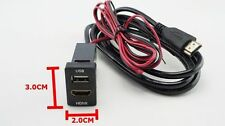 TOYOTA HILUX FORTUNER COROLLA VIOS YALIS AUDIO HDMI USB CHARGER SIZE 3.0X2.0CM