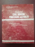 Federal Civil Judicial Procedure and Rules, 2019 Revised Edition Thomson Reuters