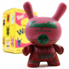 """Kidrobot ANDY WARHOL DUNNY SERIES - RED CAMPBELL'S SOUP CAN 3"""" Mini Vinyl Figure"""