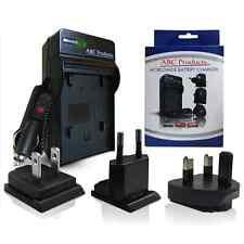 World Caricabatteria per Sony Cybershot DSC-W110, DSC-W120 Fotocamera Digitale-Nuovo -