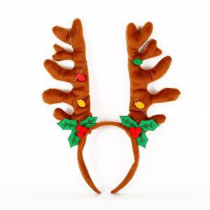 Kids Adult Christmas Head Wear Reindeer Santa Fancy Party  Prop Xmas Headband