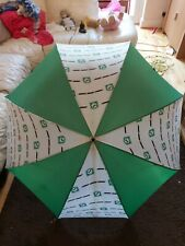 VERY RARE Lloyds Bank Promotional Large Mens Umbrella Green & White