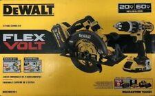 DeWalt 60V MAX XR Cordless Circular Saw & 20V Cordless Hammer Drill/Driver Combo