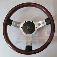 "New 13.5"" Wood Steering Wheel & Hub Adaptor Sunbeam Alpine Tiger"