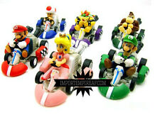 SUPER MARIO BROS. 6 KART TOY CARS CHARACTERS FIGURES go action machines new 8 9
