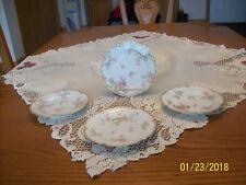 Haviland & Limoges Co. Schleiger Pink Rose Blossom Pattern 4 Dessert Plates