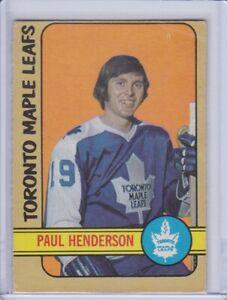 Paul Henderson 1972 O-Pee-Chee Hockey Card 126 Grade G