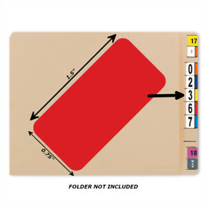 Bar Tab Labels 500 Color Coded Bar-Style Labels For File Folder End Tabs - Blank