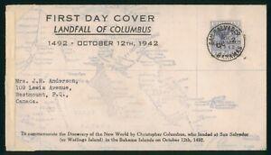 Mayfairstamps Bahamas 1942 Sal Salvador Censored Landfall of Columbus First Day