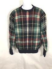 Polo Ralph Lauren Mens 100% Lambswool Plaid Crewneck Pullover Sweater Sz L