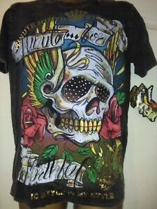 Shiroi Neko T shirt  Minute Mirth Grafic Tattoo Punk Goth Emo BNWT Size M