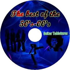 50's 60's 70's 80's 90's 00's BASS & GUITAR TAB TABLATURE CD BEST GREATEST HITS