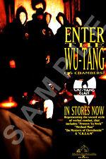 WU-TANG CLAN 12x18 ENTER THE WU-TANG 36 CHAMBERS ALBUM PROMO POSTER GZA RZA 1