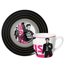ELVIS Presley Coffee Tea Mug Cup & Saucer Plate Mothers Valentines Day Gift