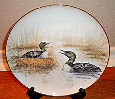 """Vtg Royal Kent Porcelain Plate # 2 Los Habitantes del Bosque Ducks Birds 9 3/4"""""""