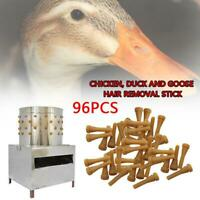 96PCS Chicken Plucker Picker Poultry Fingers Duck Goose Removal Hen Rod W0W6