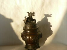 ancien brûle parfum asiatique à décor de dragon