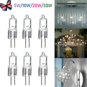 10 x G4 Halogen Capsule Lamps Light Bulbs 10W or 20 Watt 5W 35W 12 Volt 2 Pin UK