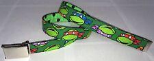 Teenage Mutant Ninja Turtles BELT & Buckle TMNT Green Web Cartoon TV Movie Comic