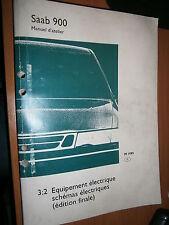 Saab 900 : manuel atelier partie 3:2 Equipement électrique schémas 1995