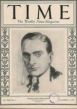 Time Magazine  October 11, 1926  Ogden Livingston Mills