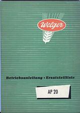 BA ETL WELGER Presse AP 20 Aufsammelpresse 1957 AP20