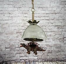 Vintage Chandelier With Moving Vocal Dinosaur Unique  one of a kind Kids room