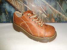 DR MARTENS 12283 WORK OR HIKING SHOES BRN LEATHER - WOMEN'S SZ US 8