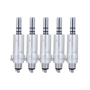 5Pcs Dental NSK Style Slow Low Speed E-Type Air Motor Handpiece 4 Holes EX203C